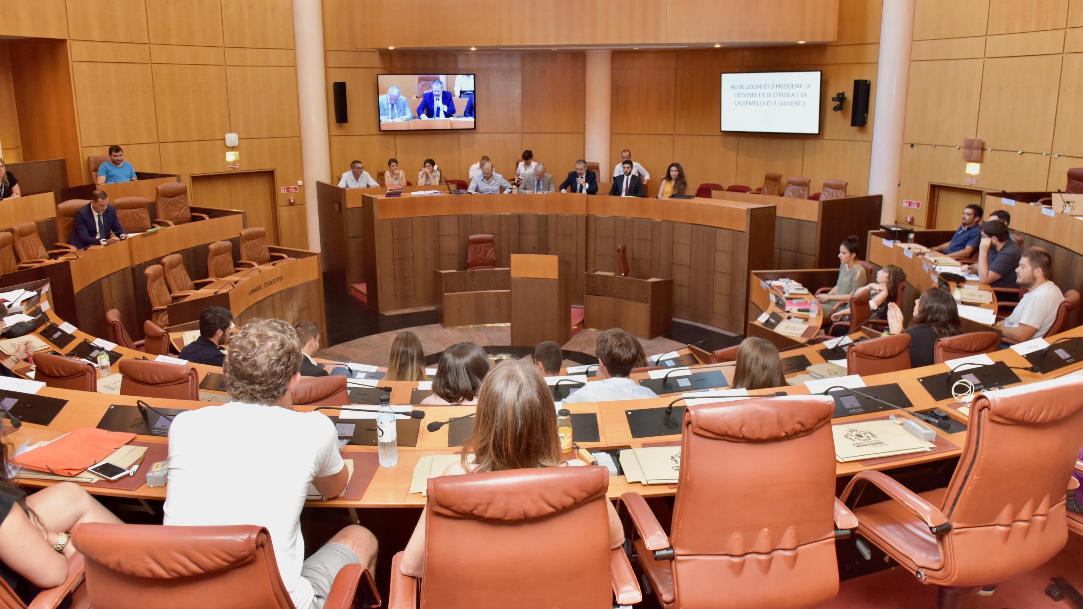Ordini di u ghjornu di a seduta di l'Assemblea di a Giuventù - U 30 d'uttrovi di u 2017