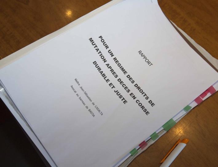 Fiscalité patrimoniale : pour un régime durable et juste, Me Jean-Sébastien de Casalta présente son rapport devant les élus de l'Assemblée de Corse