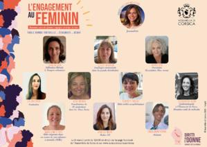 """8 di marzu 2021. Visionnez la table ronde virtuelle sur """"l'Engagement au Féminin"""""""