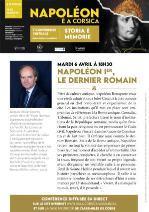 """Voir ou revoir la conférence de Jacques-Olivier Boudon : """"Napoléon Ier, le dernier Romain"""""""