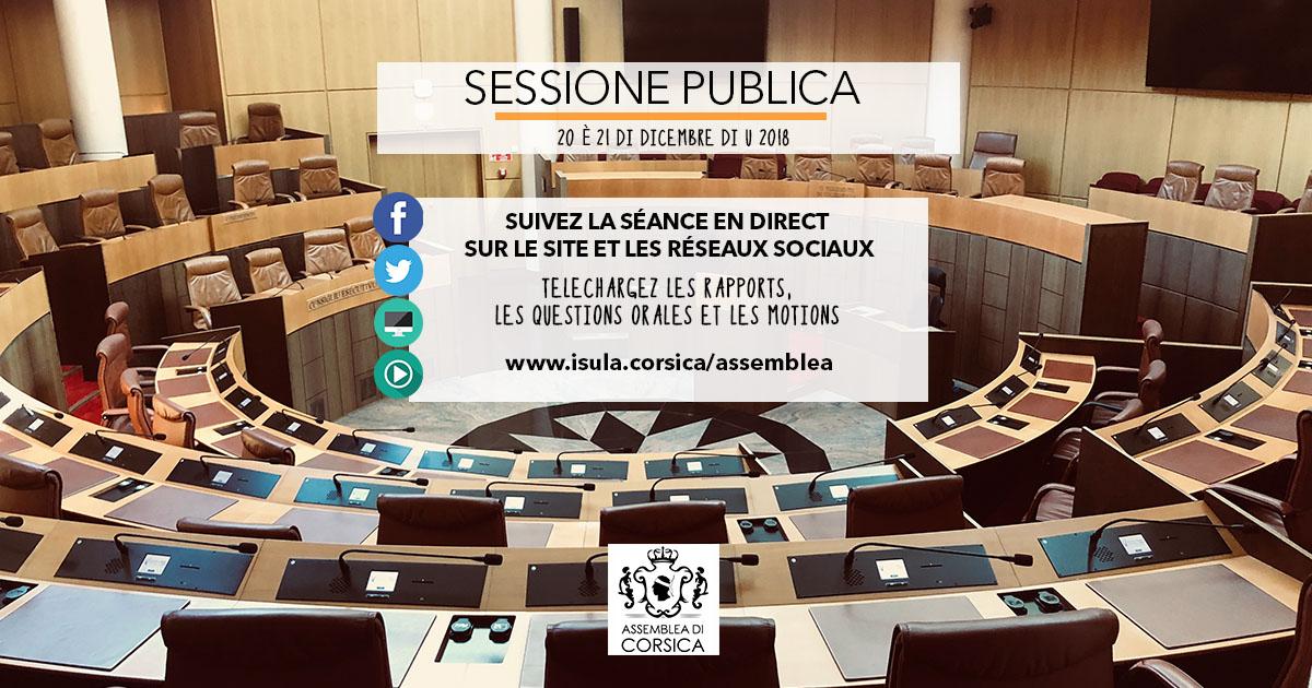 20 è 21 di dicembre : Ordine di u ghjornu di a settesima sessione strasurdinaria di u 2018