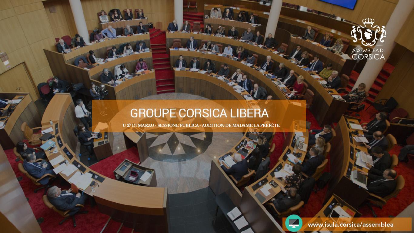 Audition de la Préfète de Corse : les questions du groupe Corsica Libera