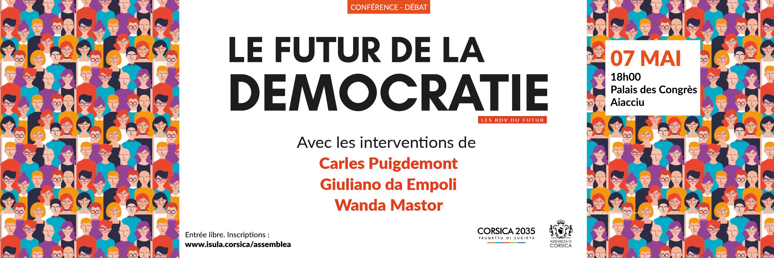Le Futur de la Démocratie en débat le 7 mai à Aiacciu