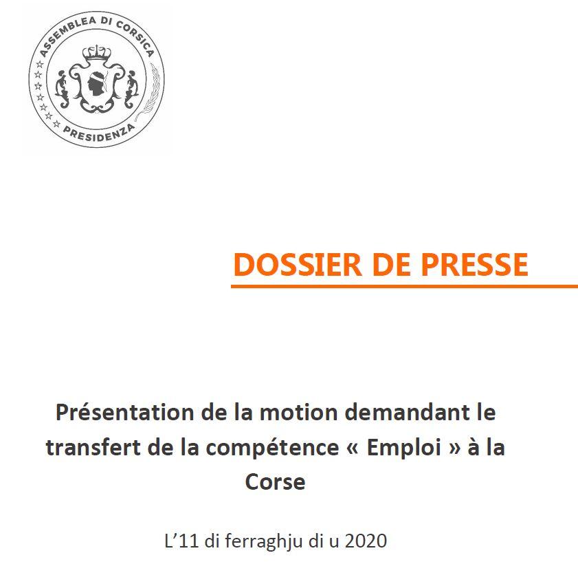 """Pour le transfert de la compétence """"emploi"""" à la Corse"""