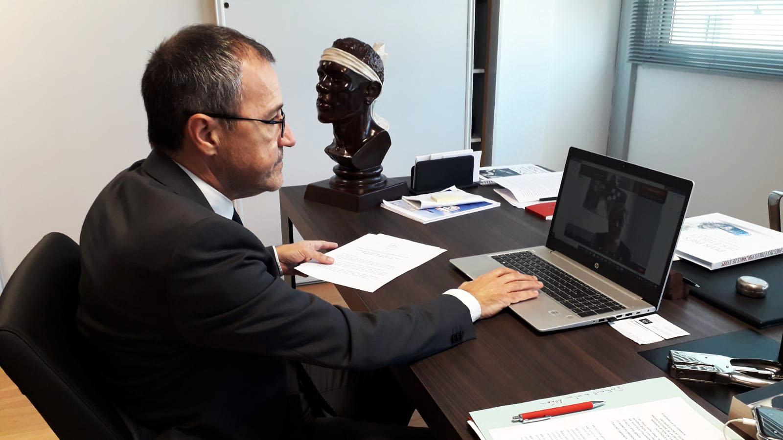 Le Président Jean-Guy Talamoni a présenté les initiatives de l'Assemblée de Corse