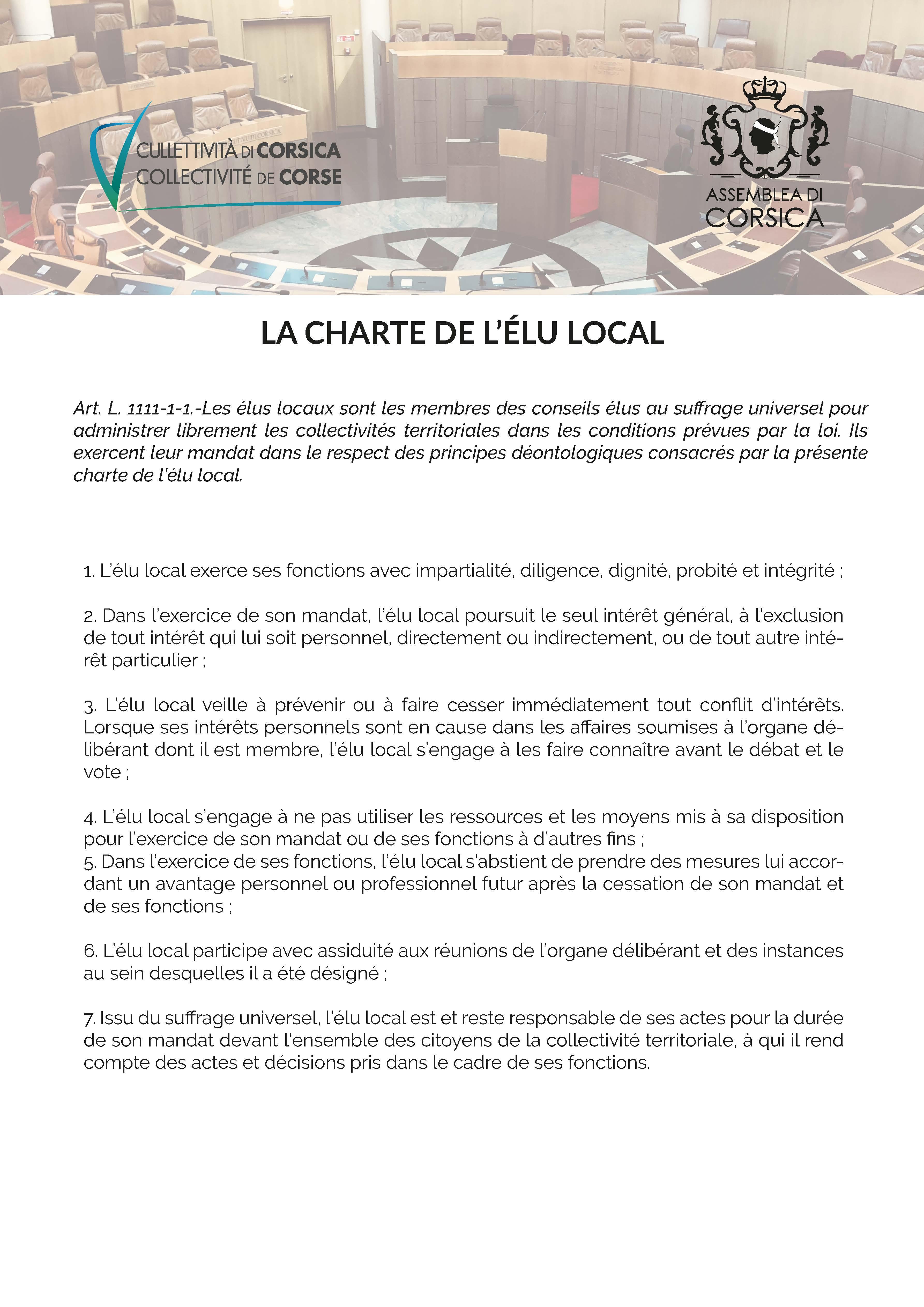 La charte de l'élu