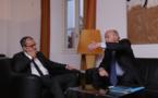 Accueil de Jacques Toubon, défenseur des droits à l'Assemblée de Corse