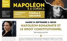 """"""" Napoléon Bonaparte et le droit constitutionnel """" : conférence de Wanda MASTOR"""