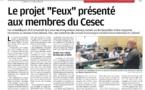 """Présentation du Projet """"Feux"""" au CESEC de Corse"""