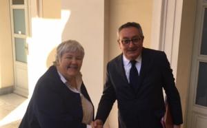 Historique : rencontre des membres du bureau du CESEC  avec la ministre Jacqueline Gourault