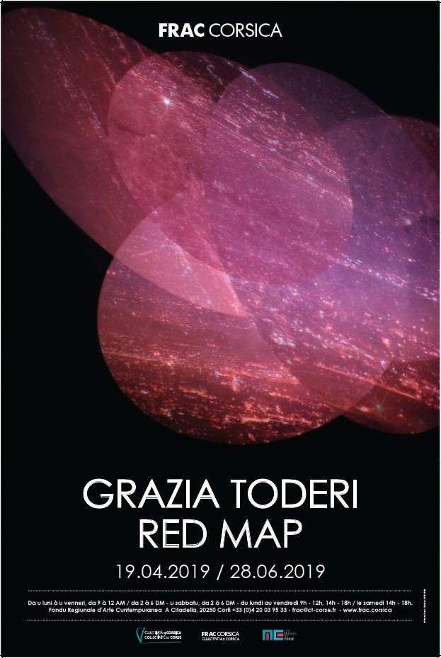 "Exposition au FRAC de CORSE : ""GRAZIA TODERI - RED MAP"""