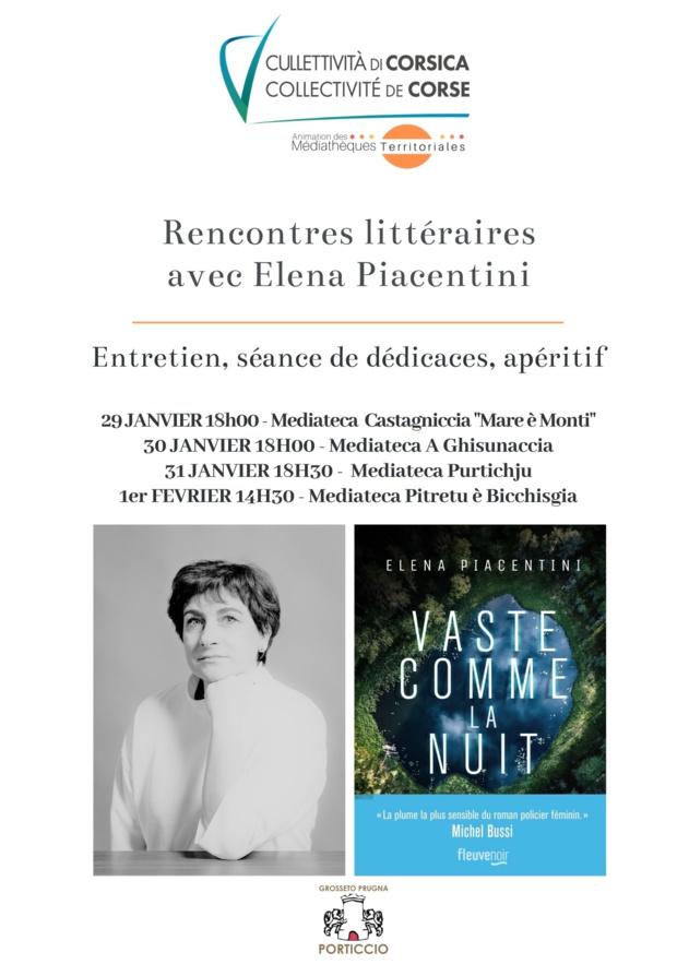 Rencontres littéraires avec Elena Piacentini