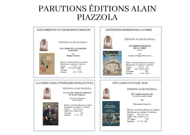 """Nouveautés des """"Éditions Piazzola"""""""