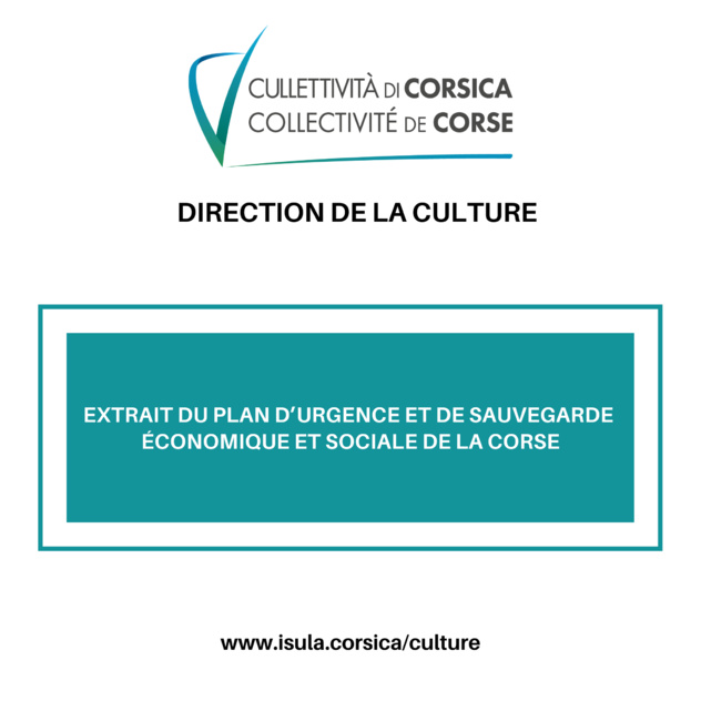 Extrait du Plan d'urgence et de sauvegarde économique et sociale de la Corse