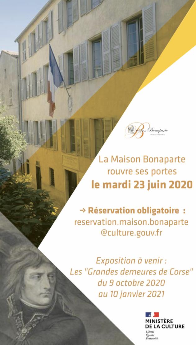 Réouverture de la Maison Bonaparte le 23 Juin !