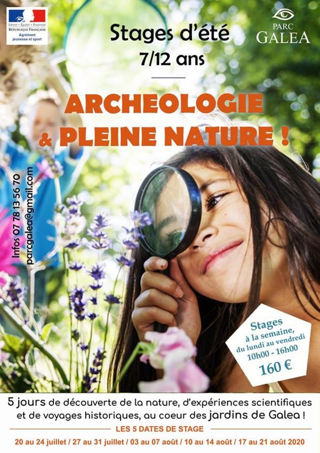 """Parc Galea : Stage d'été pour les 7/12 ans sur le thème """"Archéologie et plein nature"""""""