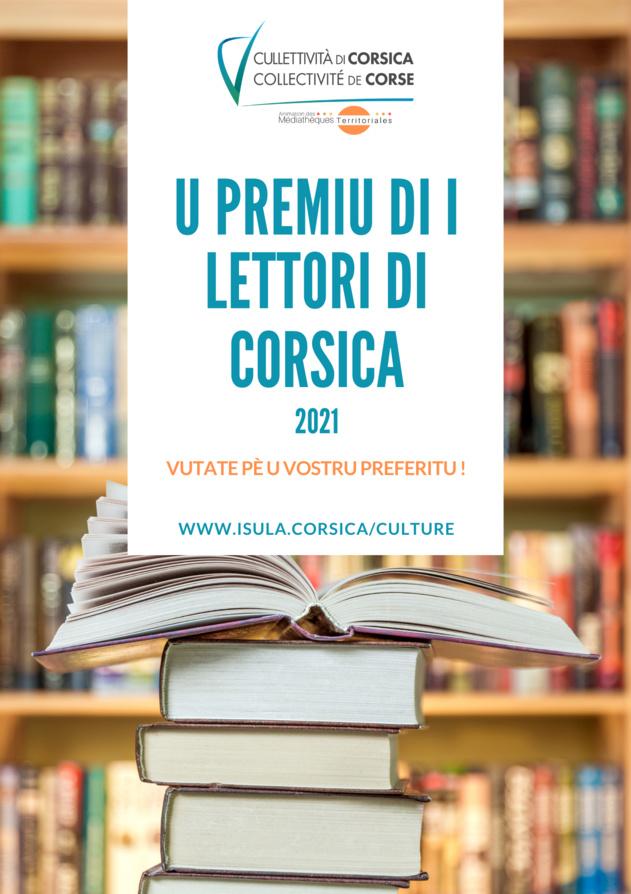 PREMIU DI I LETTORI DI CORSICA 2021 / VOTEZ POUR VOTRE LIVRE PRÉFÉRÉ JUSQU'AU 30 OCTOBRE !