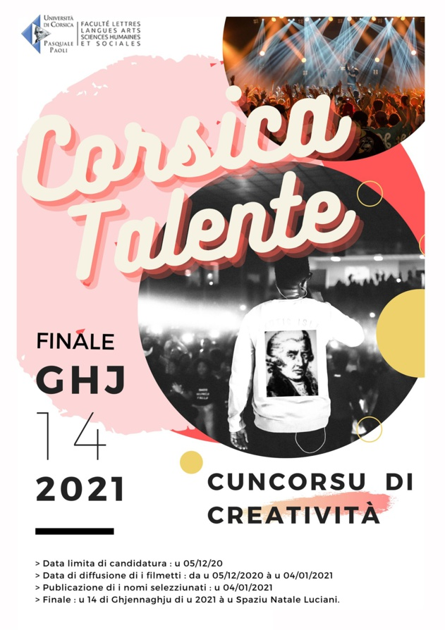Corsica Talente - Chjama à cuncorsu creativu !