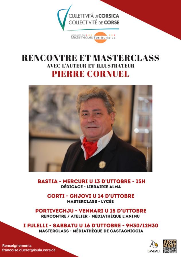 Rencontres et MasterClass avec l'auteur et illustrateur Pierre Cornuel