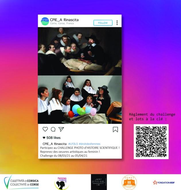 """Challenge photographique proposé par le CPIE A Rinascita : """"Les filles, Osez les sciences ! »"""