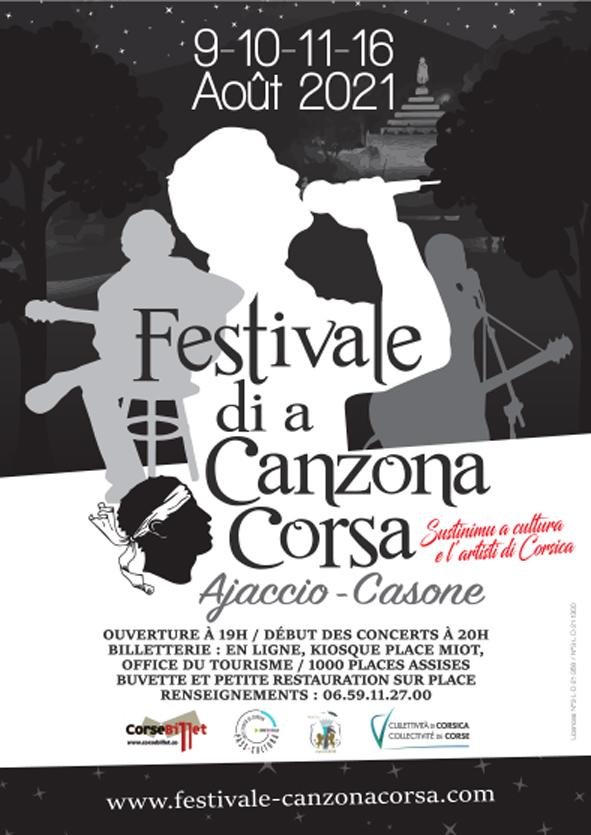 Festivale di a Canzona Corsa du 9 au 11 et le 16 août - Ajaccio