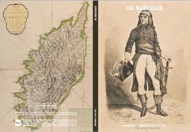 Ventes aux enchères : livres, cartes géographiques, autographes, tableaux…relatifs à la Corse