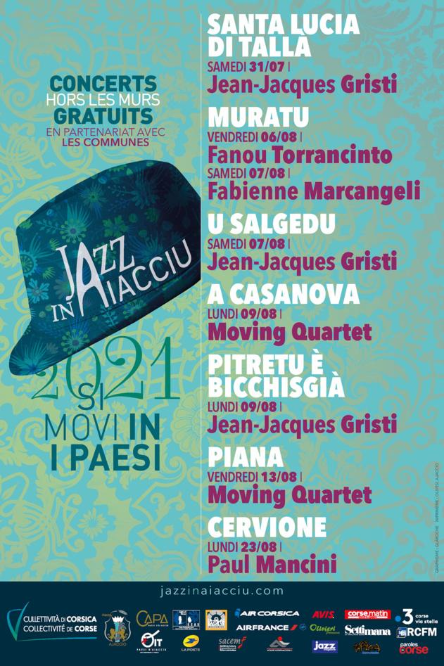 Jazz in Aiacciu 2021 si movi in i paesi !