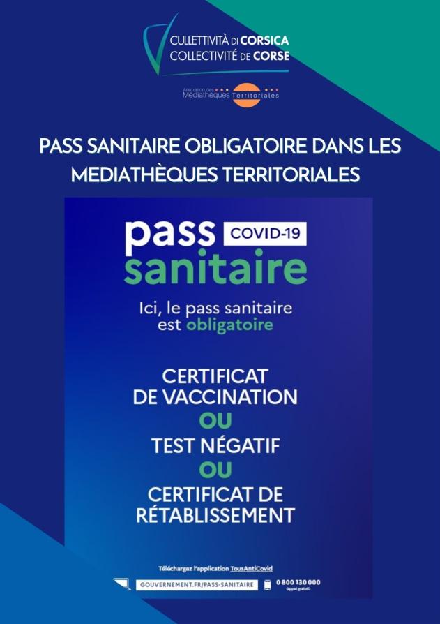 Pass Sanitaire obligatoire dans les Médiathèques Territoriales