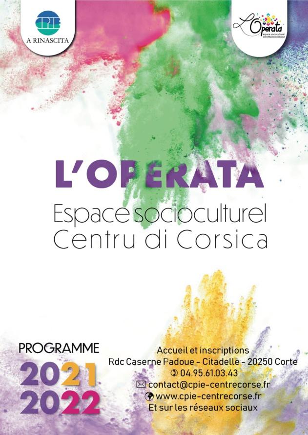 Programmation 2021/2022 de l'espace socioculturel l'Operata - CPIE Centre Corse - Corte