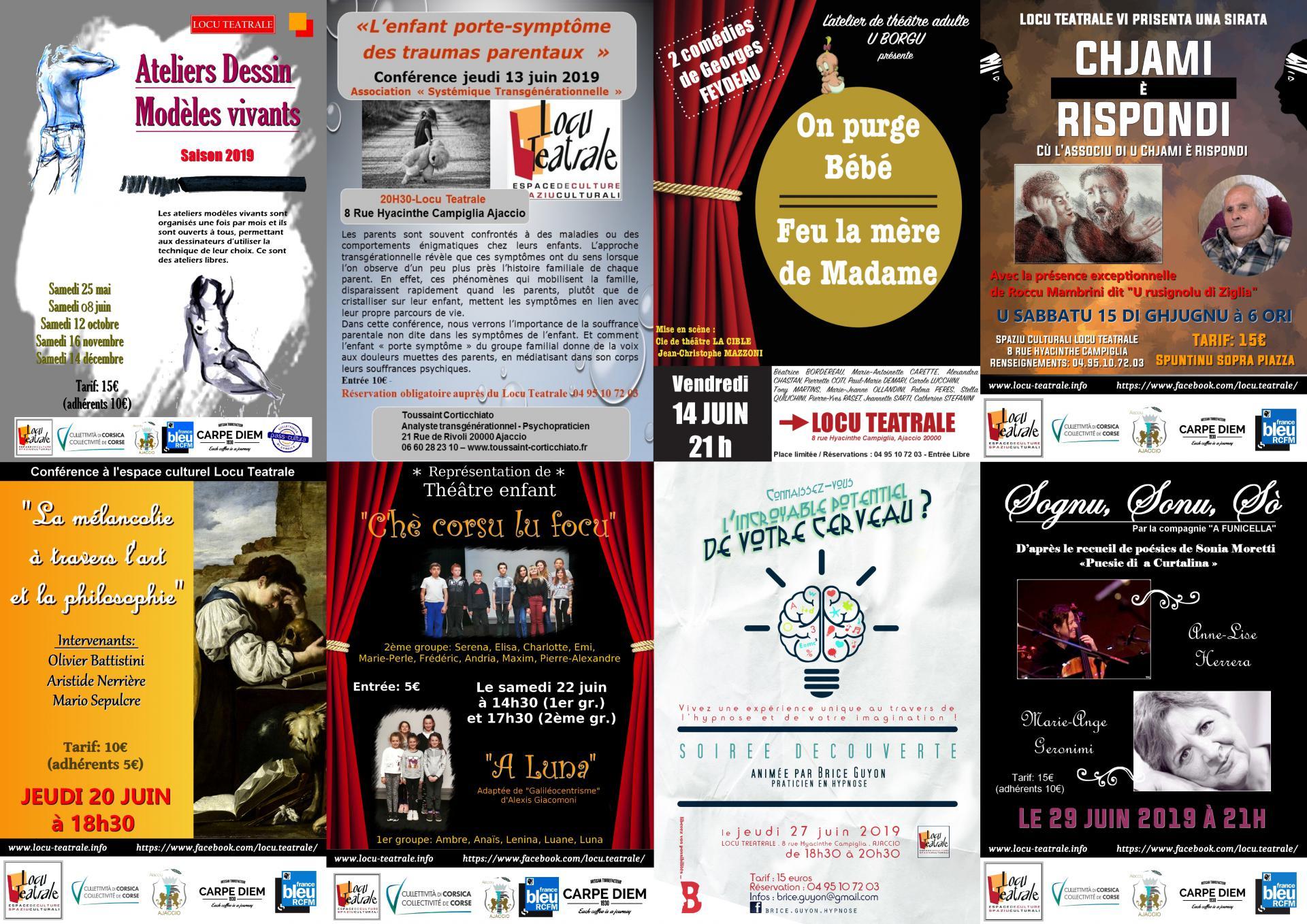Programme du mois de juin à Locu Teatrale