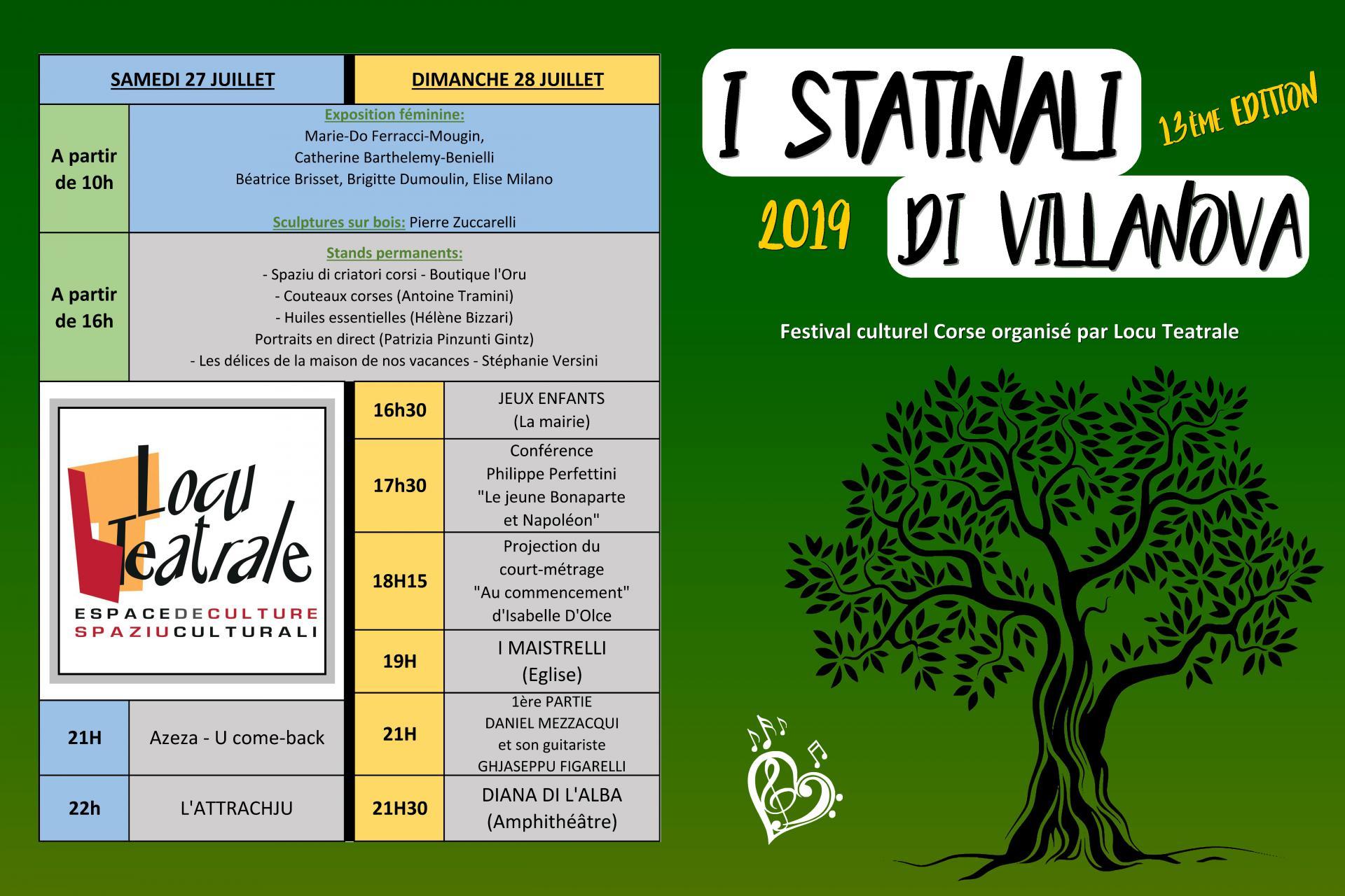"13éme Édition du Festival ""I STATINALI DI VILLANOVA"""