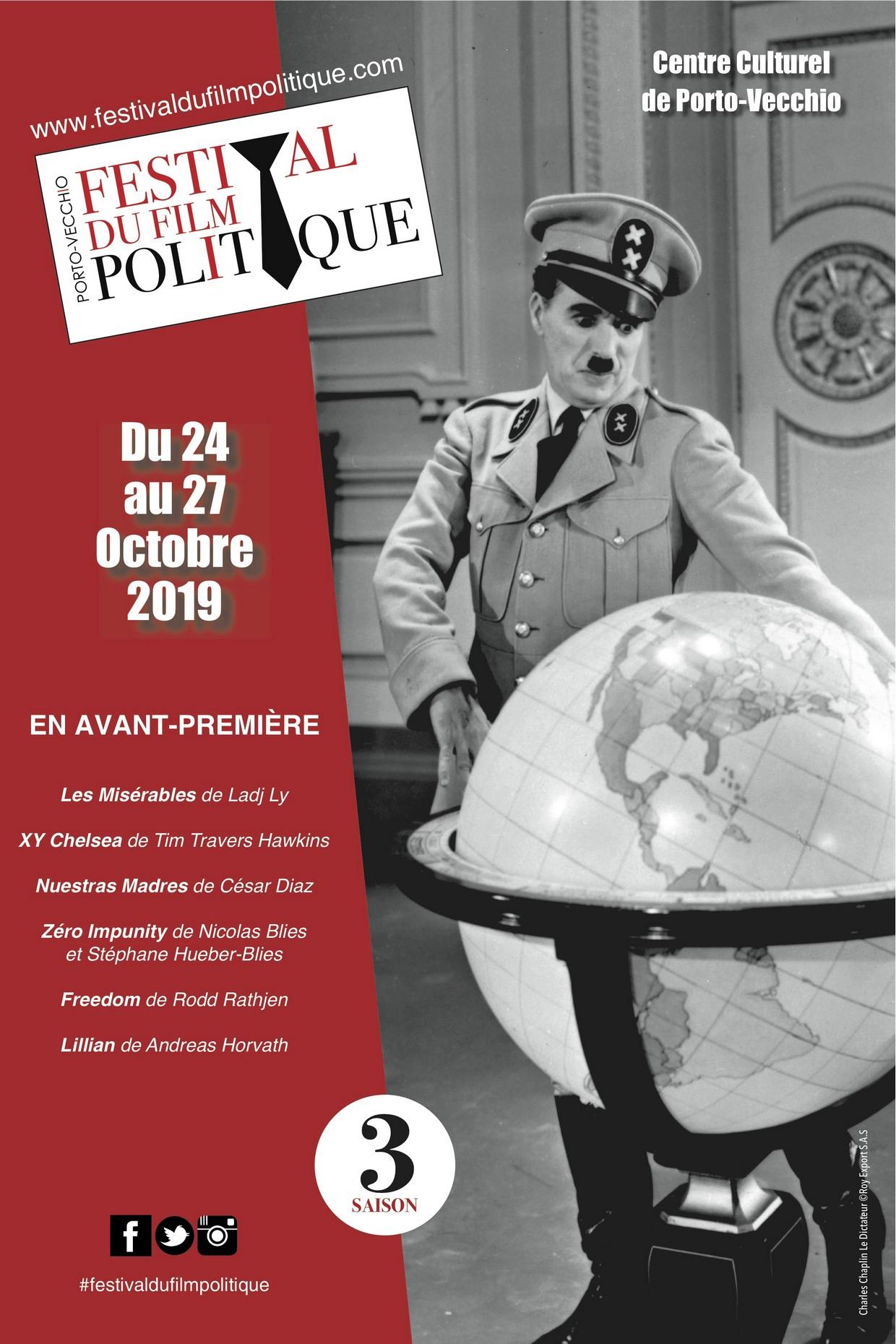 3ème édition du Festival du Film Politique - Centre Culturel de Porto-Vecchio
