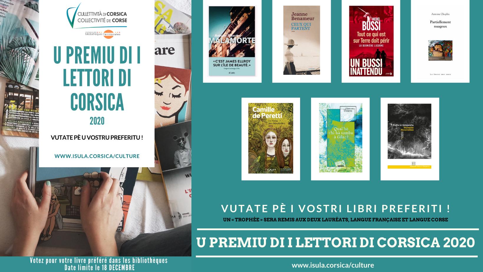 PREMIU DI I LETTORI DI CORSICA 2020 / PROLONGATION DE DATE DE VOTE AU 28 OCTOBRE !