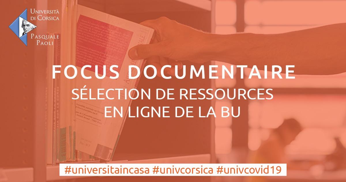 Università di Corsica : Focus documentaire