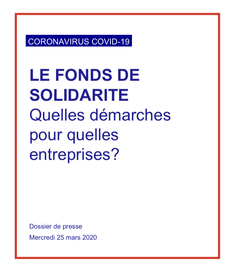 Le fonds de Solidarité : quelles démarches pour quelles entreprises ?