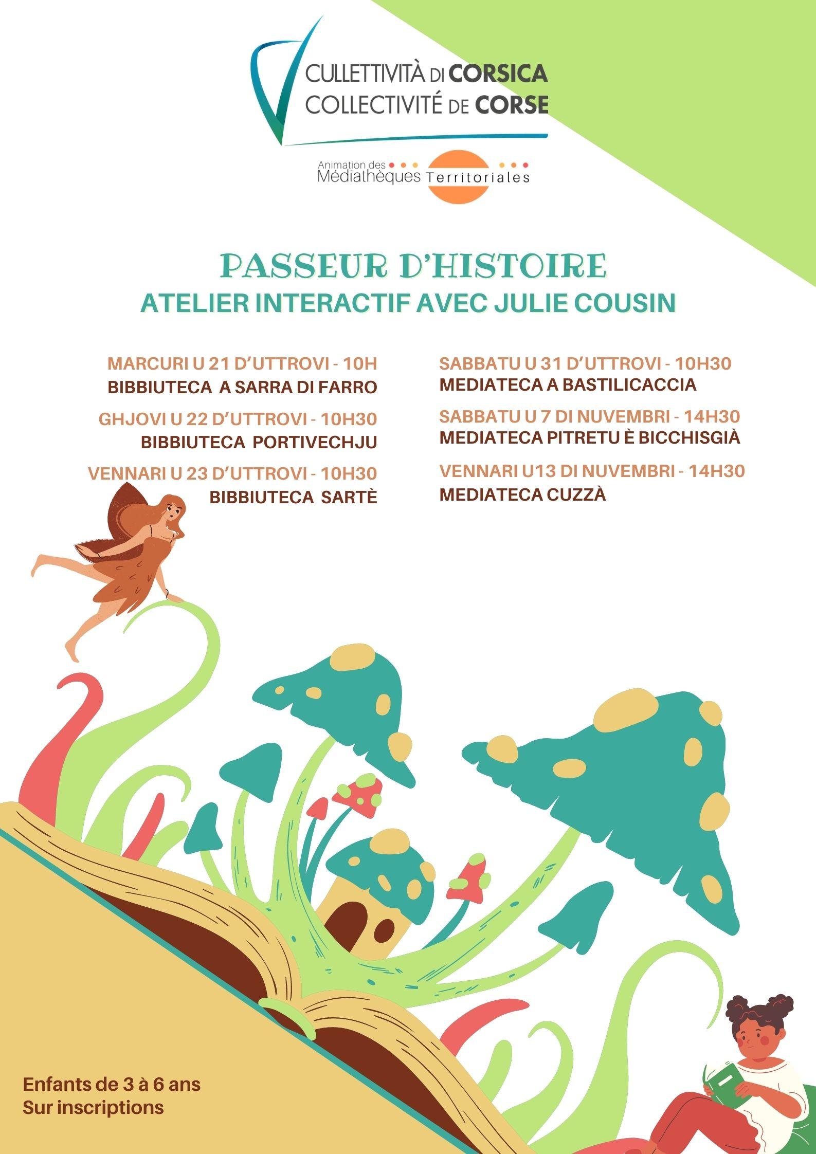 """""""Passeur d'histoire"""" Atelier intéractif animé par Julie Cousin"""