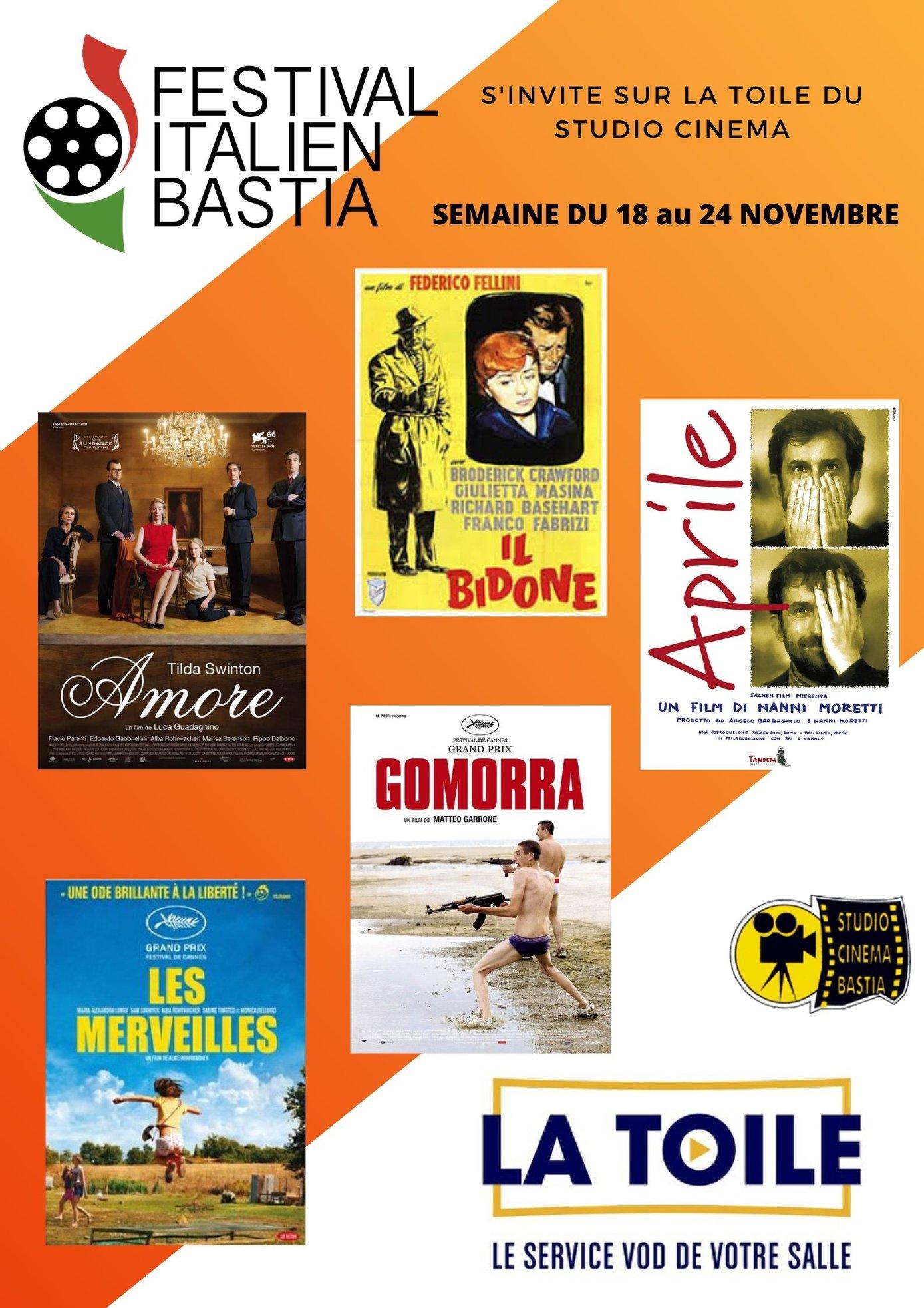 Le Festival du film italien de Bastia s'invite sur la toile du Cinéma Le Studio !