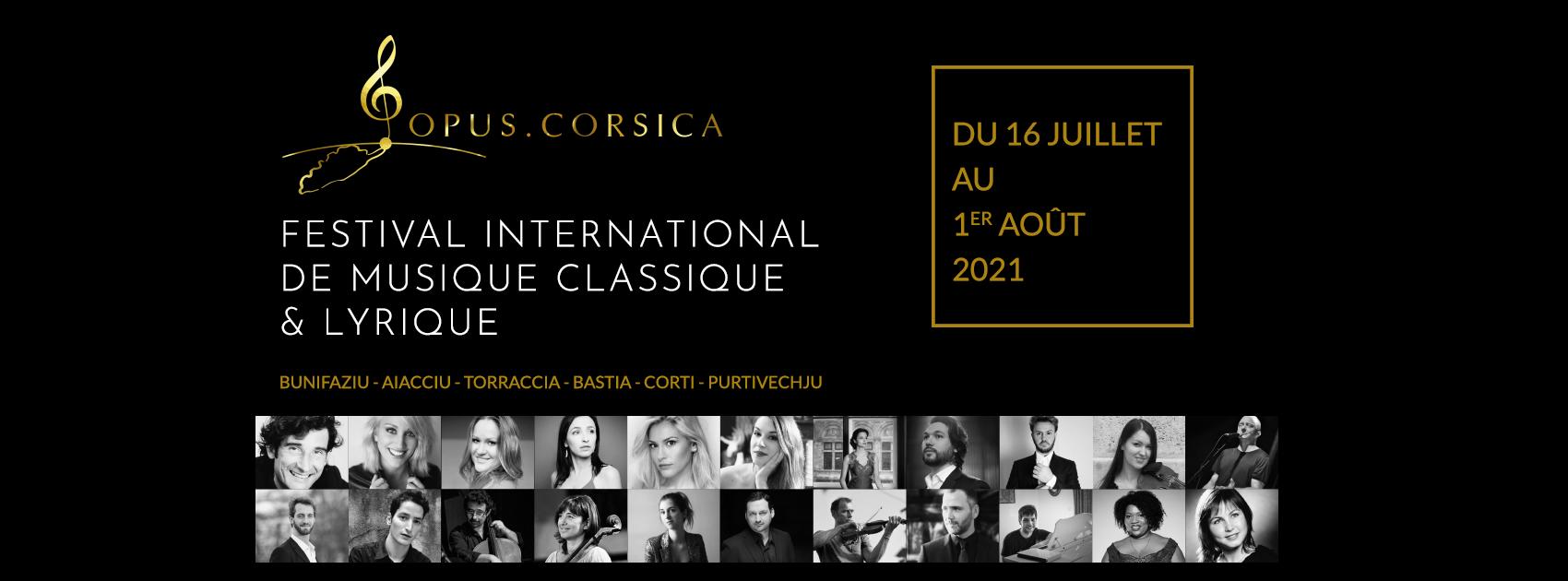 "Festival ""Opus Corsica Estate 2021"" du 16 au 1er Août"