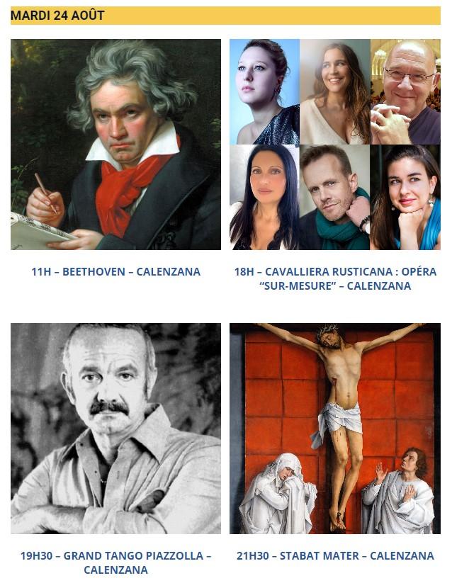 """21ème édition du Festival """"Les Rencontres de Calenzana"""" du 17 au 24 Août !"""