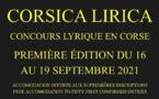 CORSICA LIRICA : Concours lyrique en Corse - 1ère édition du 16 au 19 Septembre 2021