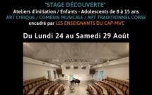 Stage découverte proposé par le Centre d'Art Polyphonique – Mission Voix de Corse