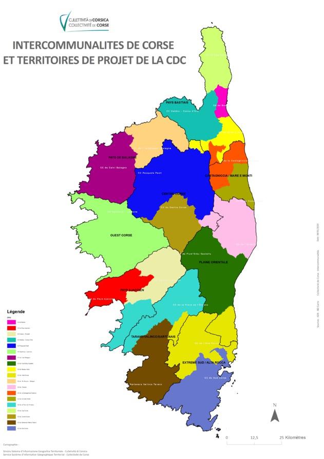 Cartographie des EPCI au 1er Janvier 2017