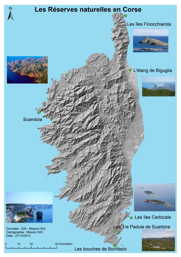 Les Réserves naturelles en Corse