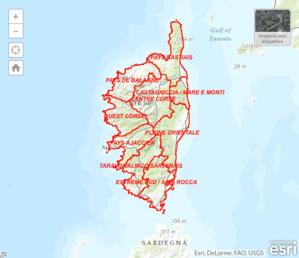 Application permettant de visualiser les différents découpages administratifs de la région