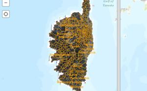 Application permettant de visualiser les photos aériennes de 2011 et 2013 avec un outil de balayage
