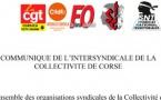 Fonctionnaire mise en cause : réaction de l'intersyndicale de la Collectivité de Corse