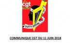 Communiqué CGT du 11 juin 2018