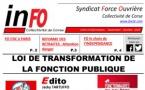 Loi de transformation dela fonction publique