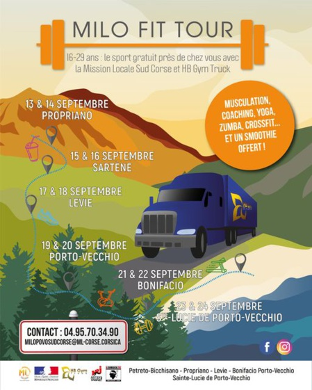 Milo Fit Tour : Le sport gratuit près de chez vous avec la Mission Locale Sud Corse