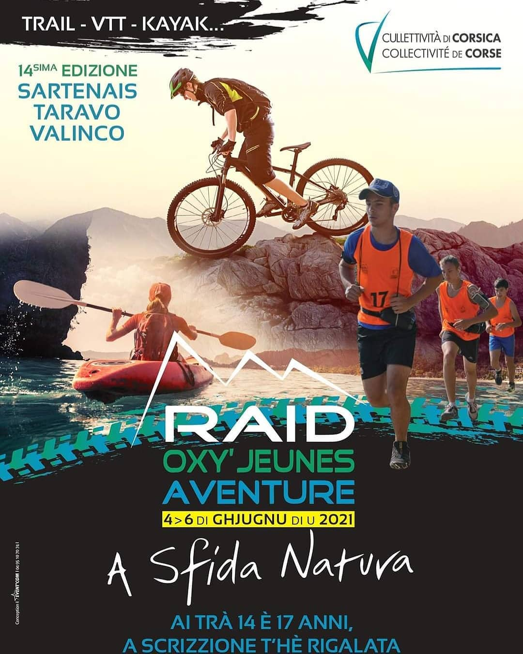 Raid Oxy'Jeunes Aventure - A sfida natura per i ghjovani da 14 à 17 anni